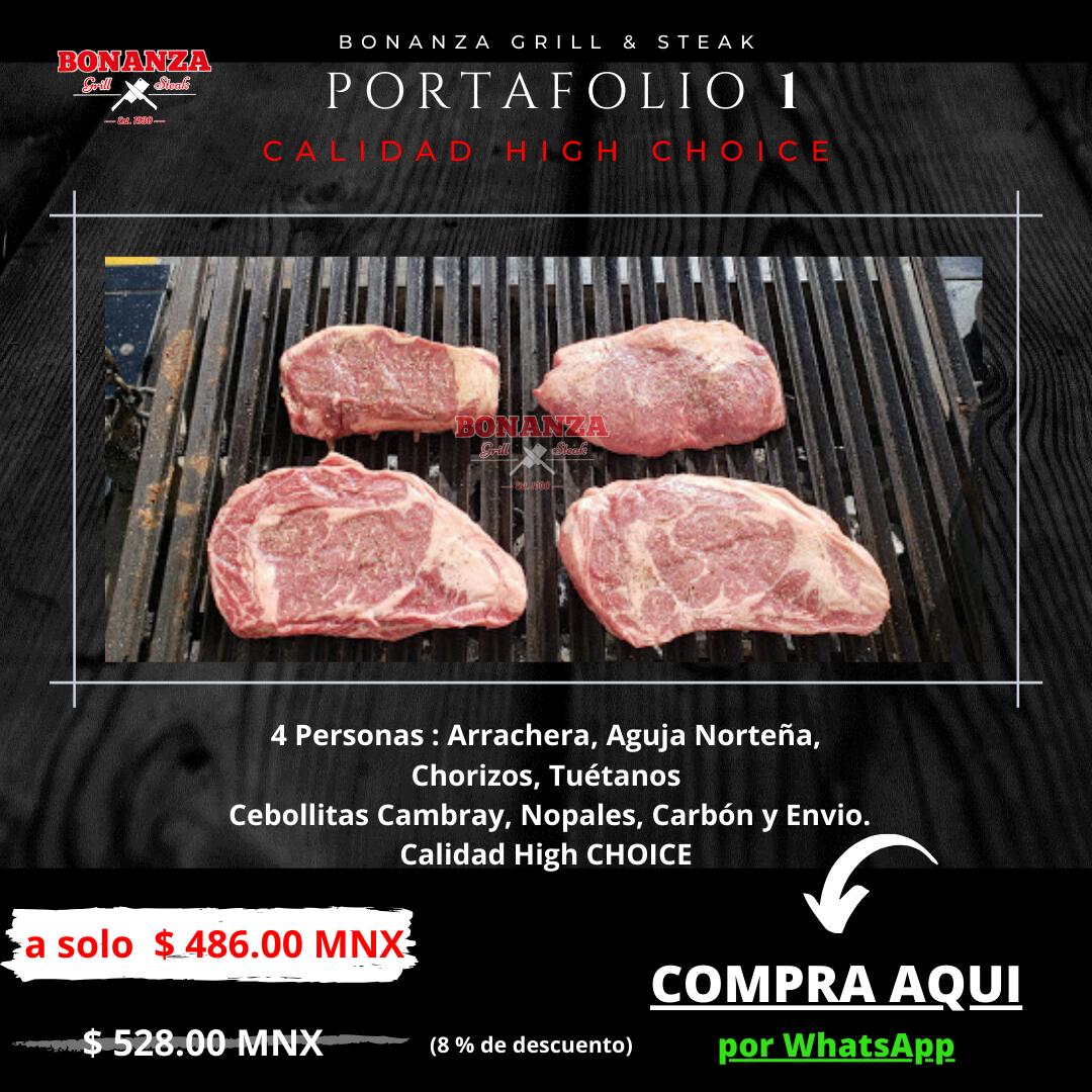 Promoción de Portafolio 1 - Carnicería Tienda Boutique de cortes Bonanza Grill & Steak