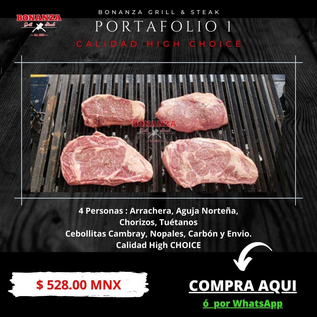 Portafolio 1 - Carnicería Tienda Boutique de cortes Bonanza Grill & Steak